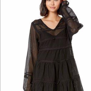 Free People Black Berlin Mini Dress
